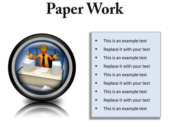 Paperwork Business PowerPoint Presentation Slides Cc