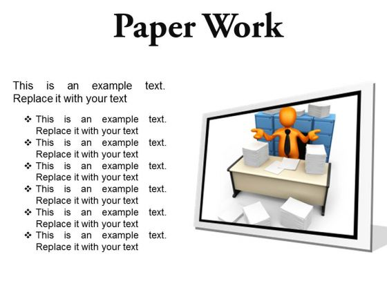 Paperwork Business PowerPoint Presentation Slides F
