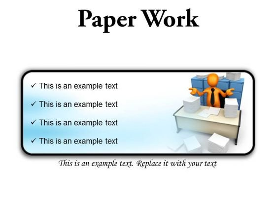 Paperwork Business PowerPoint Presentation Slides R