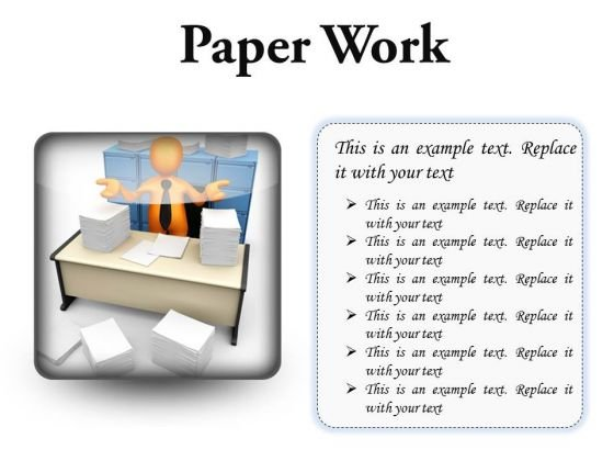 Paperwork Business PowerPoint Presentation Slides S