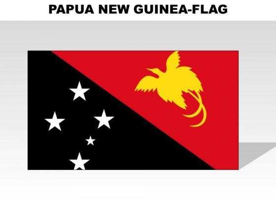Papua New Guinea Country PowerPoint Flags