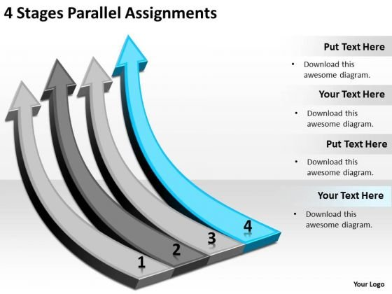 Parallel And Distributed Processing 4 Stages Assignments Ppt PowerPoint Slides
