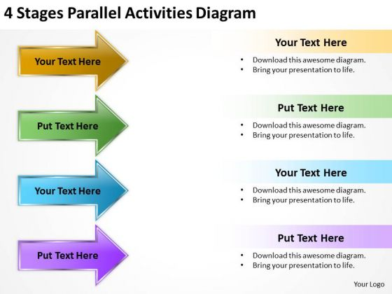 Parallel And Serial Processing Activities Diagram PowerPoint Templates Ppt Backgrounds For Slides