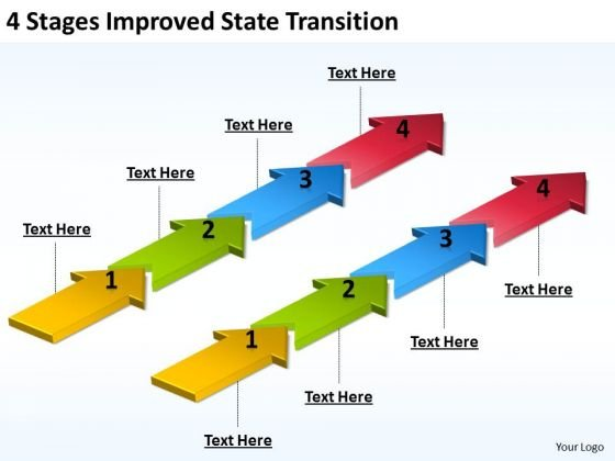 Parallel And Serial Processing State Transition PowerPoint Templates Ppt Backgrounds For Slides
