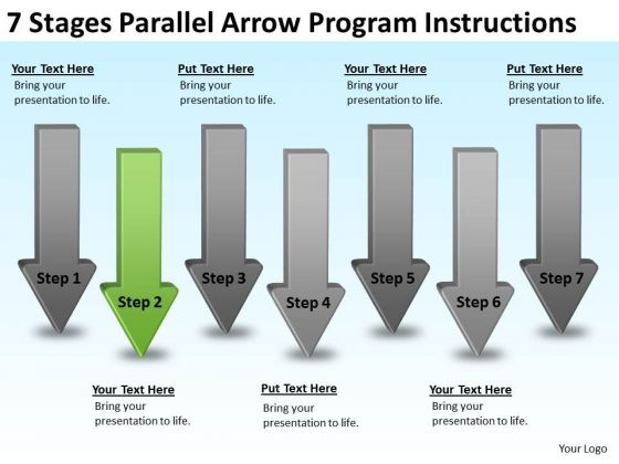 Parallel Arrow Program Instructions Business Development Plan Sample PowerPoint Slides