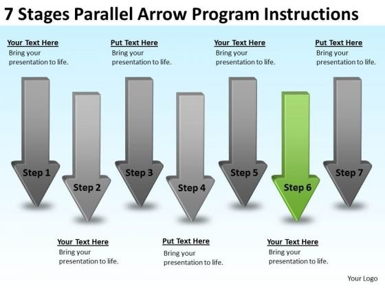 Parallel Arrow Program Instructions Template For Business Plan PowerPoint Templates