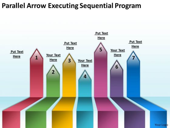 Parallel Arrows PowerPoint Executing Sequential Program Slides