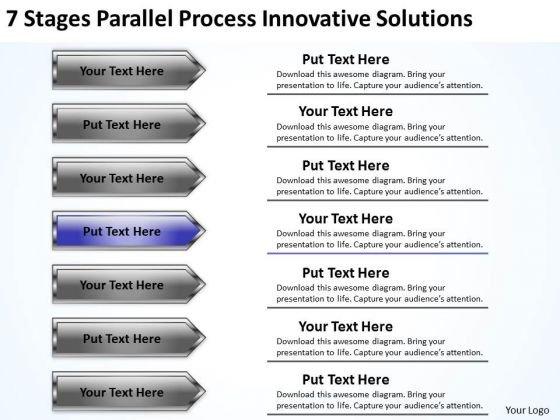 Parallel Arrows PowerPoint Stages Process Innovative Solutions Templates
