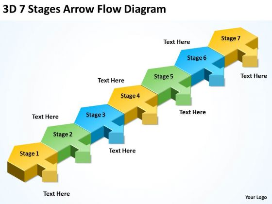 Parallel Data Processing Stages Arrow Flow Diagram PowerPoint Templates Ppt Backgrounds For Slides