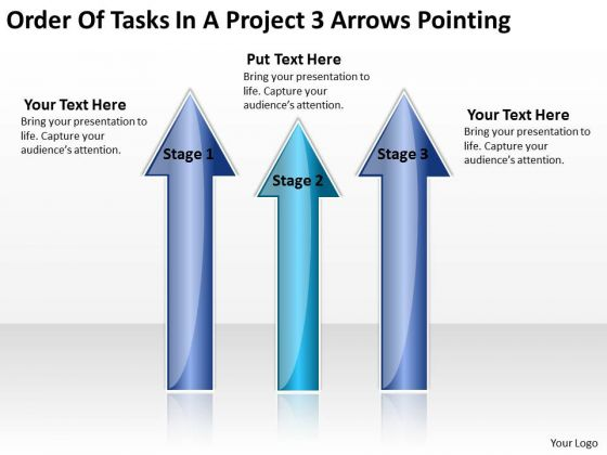 Parallel Distributed Processing Order Of Tasks Project 3 Arrows Pointing PowerPoint Templates
