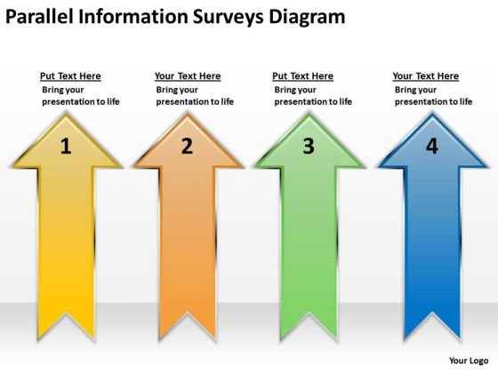 Parallel Information Surveys Diagram How To Structure Business Plan PowerPoint Slides