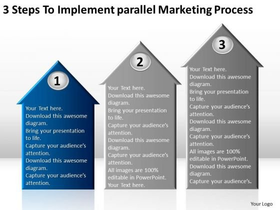 Parallel Marketing Process Companies That Write Business Plans PowerPoint Templates