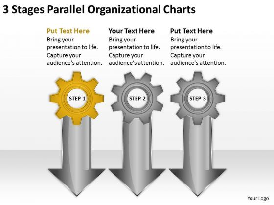 Parallel Organizational Charts Photography Business Plan Template PowerPoint Templates