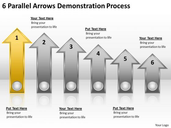 Parallel Process 6 Arrows Demonstration Ppt PowerPoint Templates