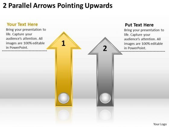 Parallel Process Social Work 2 Arrows Pointing Upwards PowerPoint Template