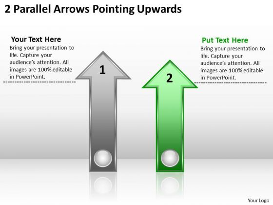 Parallel Process Social Work 2 Arrows Pointing Upwards Ppt PowerPoint Templates