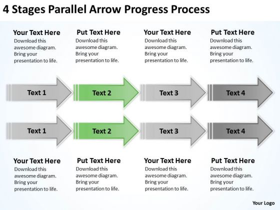 Parallel Processing Arrow Progress PowerPoint Templates Backgrounds For Slides