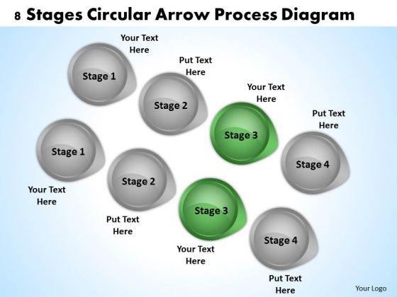 parallel processing definition 8 stages circular arrow diagram