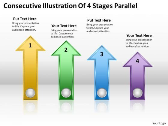 Parallel Processing Definition Consecutive Illustration Of 4 Stages PowerPoint Slides