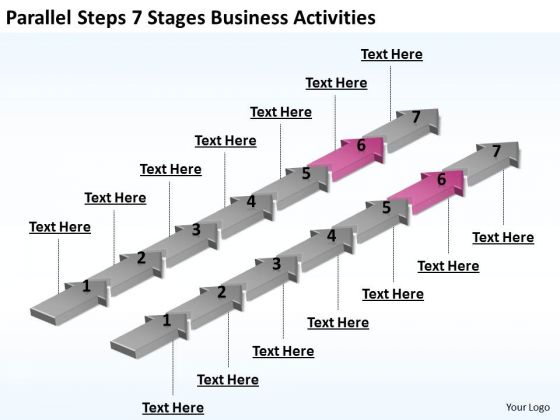 Parallel Processing Steps 7 Stages Business PowerPoint Theme Activities Ppt 6 Templates