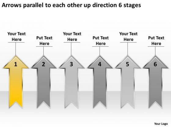 Parallel To Each Other Up Direction 6 Stages Best Business Plan Templates PowerPoint Slides