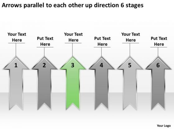 Parallel To Each Other Up Direction 6 Stages Business Marketing Plan PowerPoint Slides