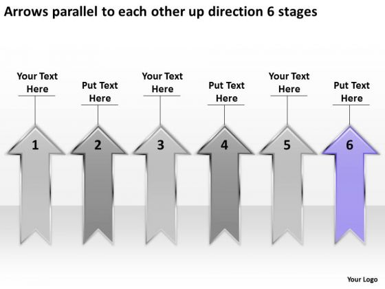 Parallel To Each Other Up Direction 6 Stages Ppt Web Design Business Plan PowerPoint Slides
