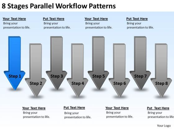 Parallel Workflow Patterns Business Plan Examples For New PowerPoint Templates