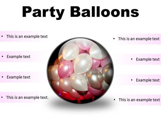 Party Balloons Festival PowerPoint Presentation Slides C