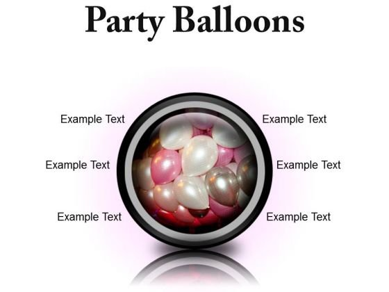 Party Balloons Festival PowerPoint Presentation Slides Cc