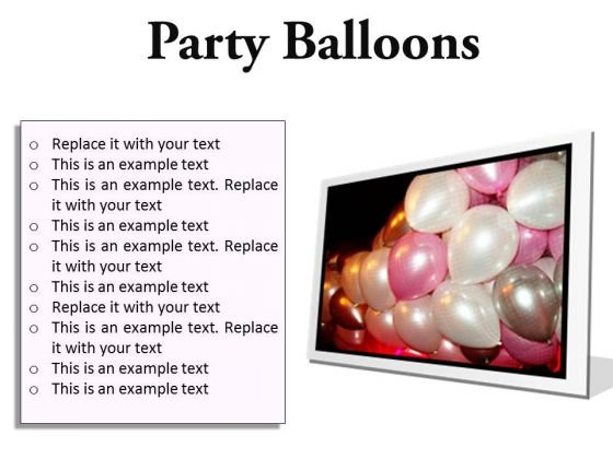 Party Balloons Festival PowerPoint Presentation Slides F