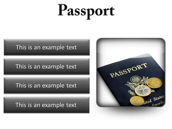 Passport Vacation PowerPoint Presentation Slides S