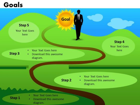 Path To Achieve Goals PowerPoint Templates Goals Ppt Slides