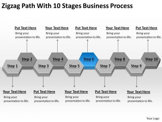 Path With 10 Stages Business Process Ppt Non Profit Plan Sample PowerPoint Templates