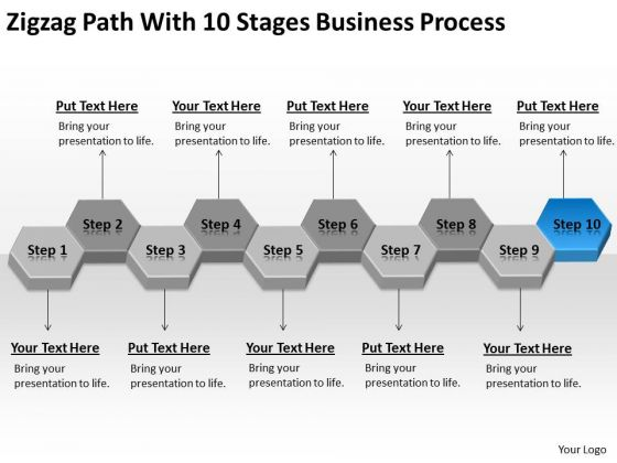 Path With 10 Stages Business Process Ppt Plans Examples PowerPoint Templates