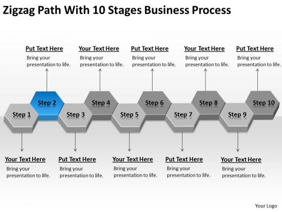 Path With 10 Stages Business Process Ppt Real Estate Plan Template PowerPoint Templates