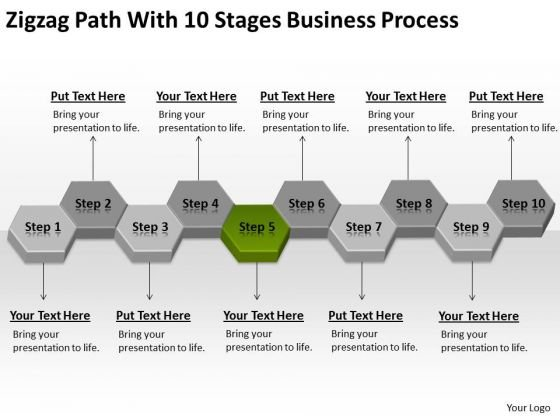 Path With 10 Stages Business Process Ppt Template For Plan PowerPoint Templates