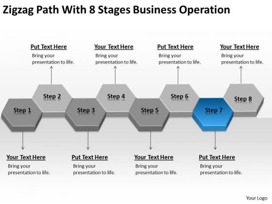 Path With 8 Stages Business Operation Ppt Successful Plan Examples PowerPoint Slides