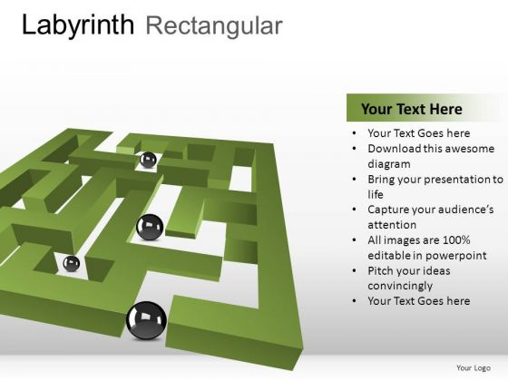 Pathfinding Labyrinth Rectangular PowerPoint Slides And Ppt Diagram Templates