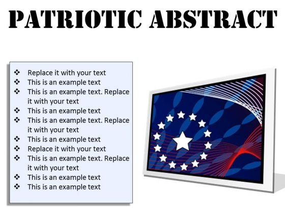 Patriotic Abstract Americana PowerPoint Presentation Slides F
