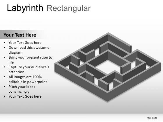 Pattern Labyrinth Rectangular PowerPoint Slides And Ppt Diagram Templates