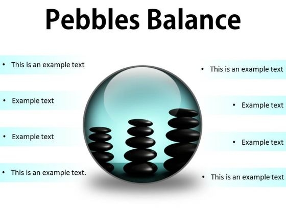 Pebbles Balance Metaphor PowerPoint Presentation Slides C