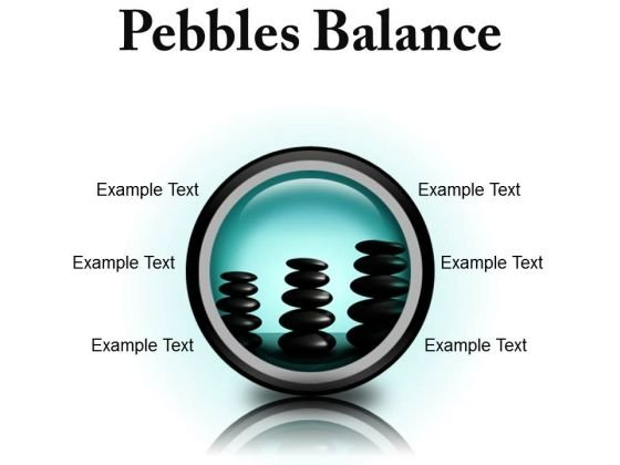 Pebbles Balance Metaphor PowerPoint Presentation Slides Cc
