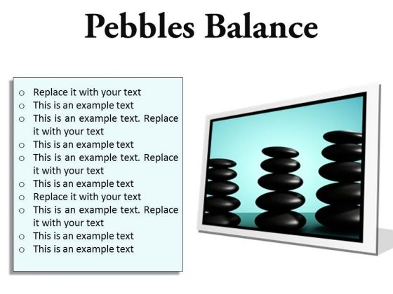 Pebbles Balance Metaphor PowerPoint Presentation Slides F