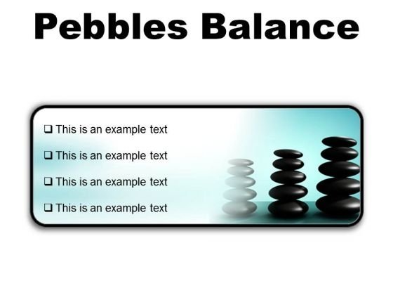 Pebbles Balance Metaphor PowerPoint Presentation Slides R