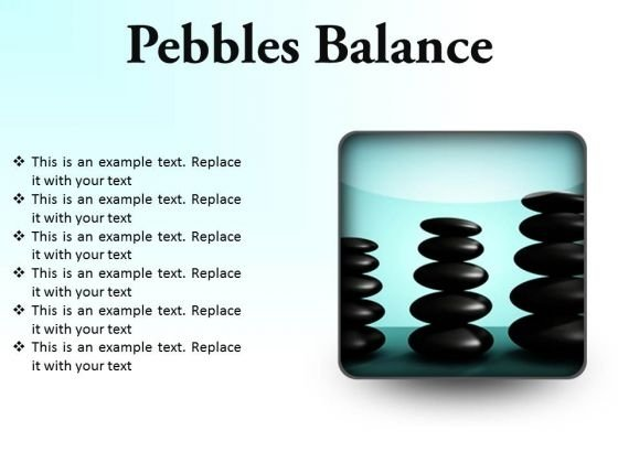 Pebbles Balance Metaphor PowerPoint Presentation Slides S