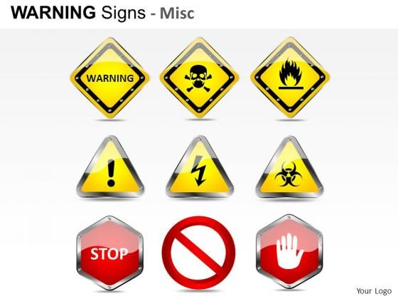 Pedestrian Warning Signs PowerPoint Slides And Ppt Diagram Templates