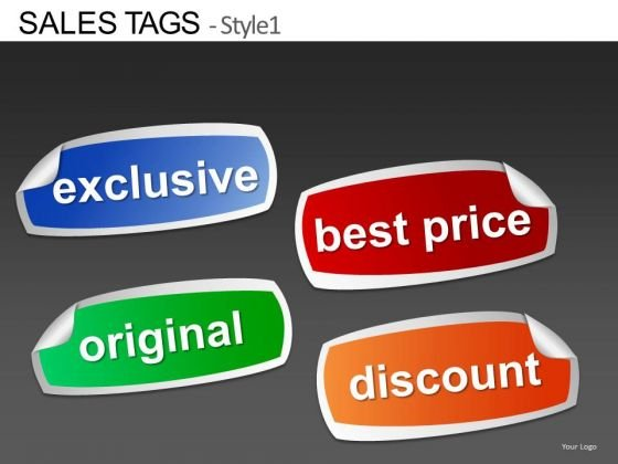 Peeled Stickers Best Price Discount PowerPoint Slides Editable Ppt