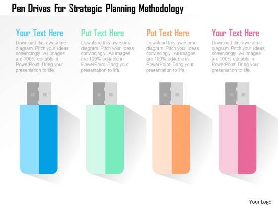 Pen Drives For Strategic Planning Methodology Presentation Template