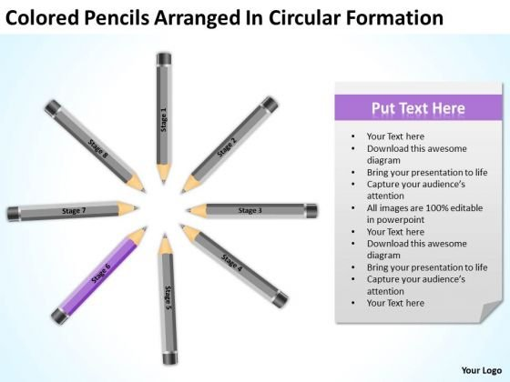 Pencils Arranged In Circular Formation Ppt Sample Business Plan PowerPoint Templates